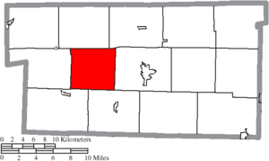Monroe Township, Holmes County, Ohio - Image: Map of Holmes County Ohio Highlighting Monroe Township