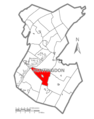 Map of Huntingdon County, Pennsylvania Highlighting Cass Township.PNG