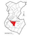 Map of Huntingdon County, Pennsylvania Highlighting Cass Township.PNG