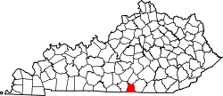 Map of Kentucky highlighting Clinton County.svg