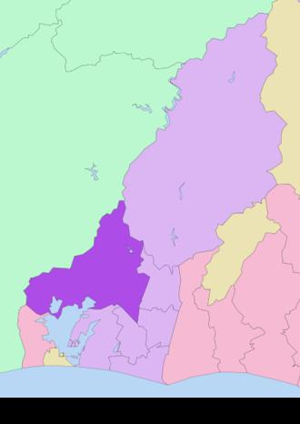 Kita-ku, Hamamatsu - Image: Map of Kita ku Hamamatsu