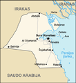Map of Kuwait (lithuanian).png