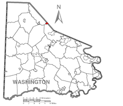Map of McDonald, Washington County, Pennsylvania Highlighted.png