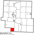 Map of Muskingum County Ohio Highlighting Clay Township.png