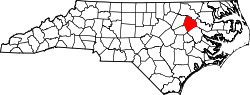 map of North Carolina highlighting Edgecombe County