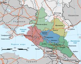 Map of North Caucasus (ru, Crimea disputed).png