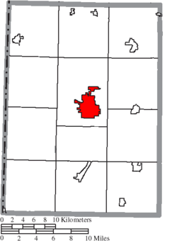 Location of Eaton in Preble County