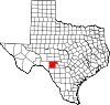State map highlighting Edwards County