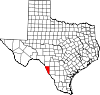 State map highlighting Maverick County