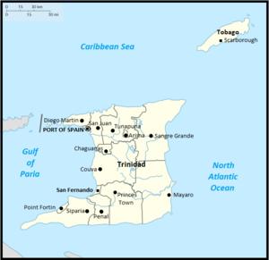 Map of Trinidad