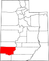 State map highlighting Iron County