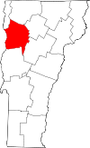 Map of Vermont highlighting Chittenden County.svg