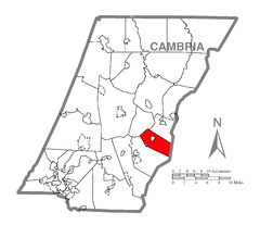 Map of Washington Township, Cambria County, Pennsylvania Highlighted.png