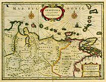 A 1635 map of Venezuela Province