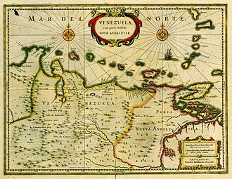Venezuela Province - Image: Mapa de Venezuela 1635