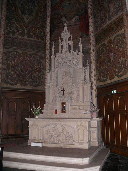 The Virgin's altar of Saint-Vincent's church in Marcq-en-Barœul (Nord, France).
