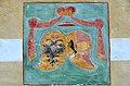 Maria Saal Propsteigebaeude S-Wand Kaiser-und Kaerntner Wappen 06012014 117.jpg