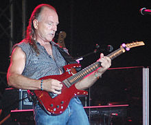 Mark Farner performing at the Fall Fest in Lawrenceburg, Indiana, September 26, 2009.