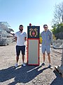 Markus and Reno with the first prototype of the safety sign.jpg