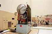 Mars Climate Orbiter awaiting a spin test in November 1998