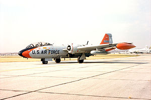 158th Fighter Wing - 158th Defense Systems Evaluation Group EB-57B 52-1499.  Now at the USAF Museum