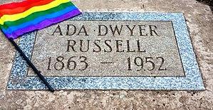 Ada Dwyer Russell - Dwyer's grave marker