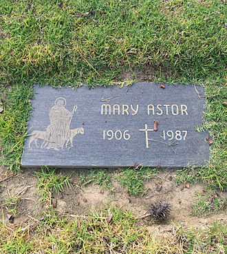 Mary Astor - Grave of Mary Astor at Holy Cross Cemetery