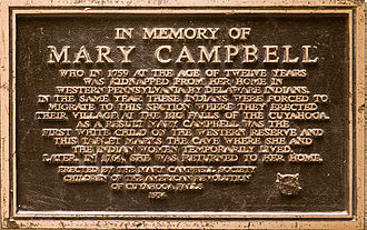 Mary Campbell (colonial settler) - Memorial to Mary Campbell, placed just outside Mary Campbell Cave.
