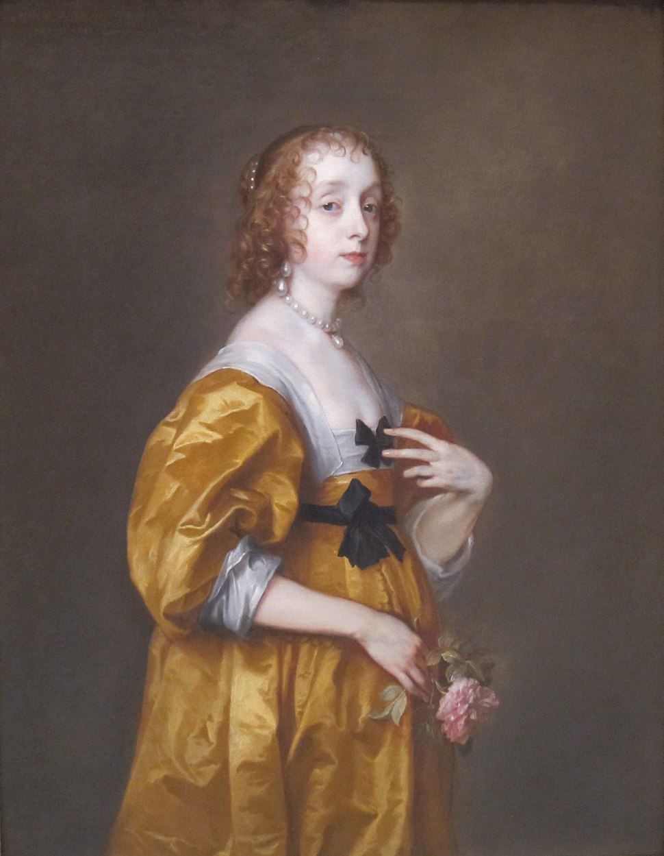 Mary Villiers, Lady Herbert of Shurland by Anthony van Dyck, Timken Museum of Art