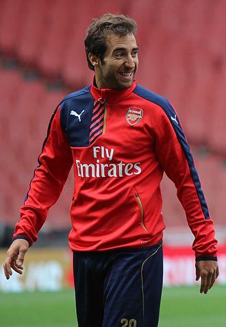 Mathieu Flamini - Flamini in training for Arsenal in 2015