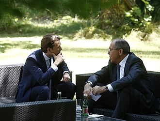 Sebastian Kurz - Kurz with Sergey Lavrov at the OSCE summit in Mauerbach.