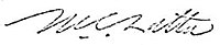 Signature of Maurice C. Latta