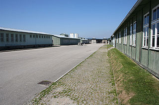 The Mauthausen parade ground – a view towards the main gate