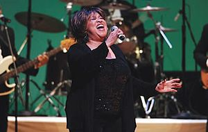 Mavis Staples - Staples singing during the 2006 NEA National Heritage Fellows concert.