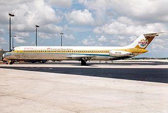 BWIA West Indies Airways - BWIA McDonnell Douglas DC-9-51 in 1989