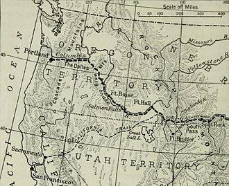 Ezra Meeker - The western half of Meeker's migration