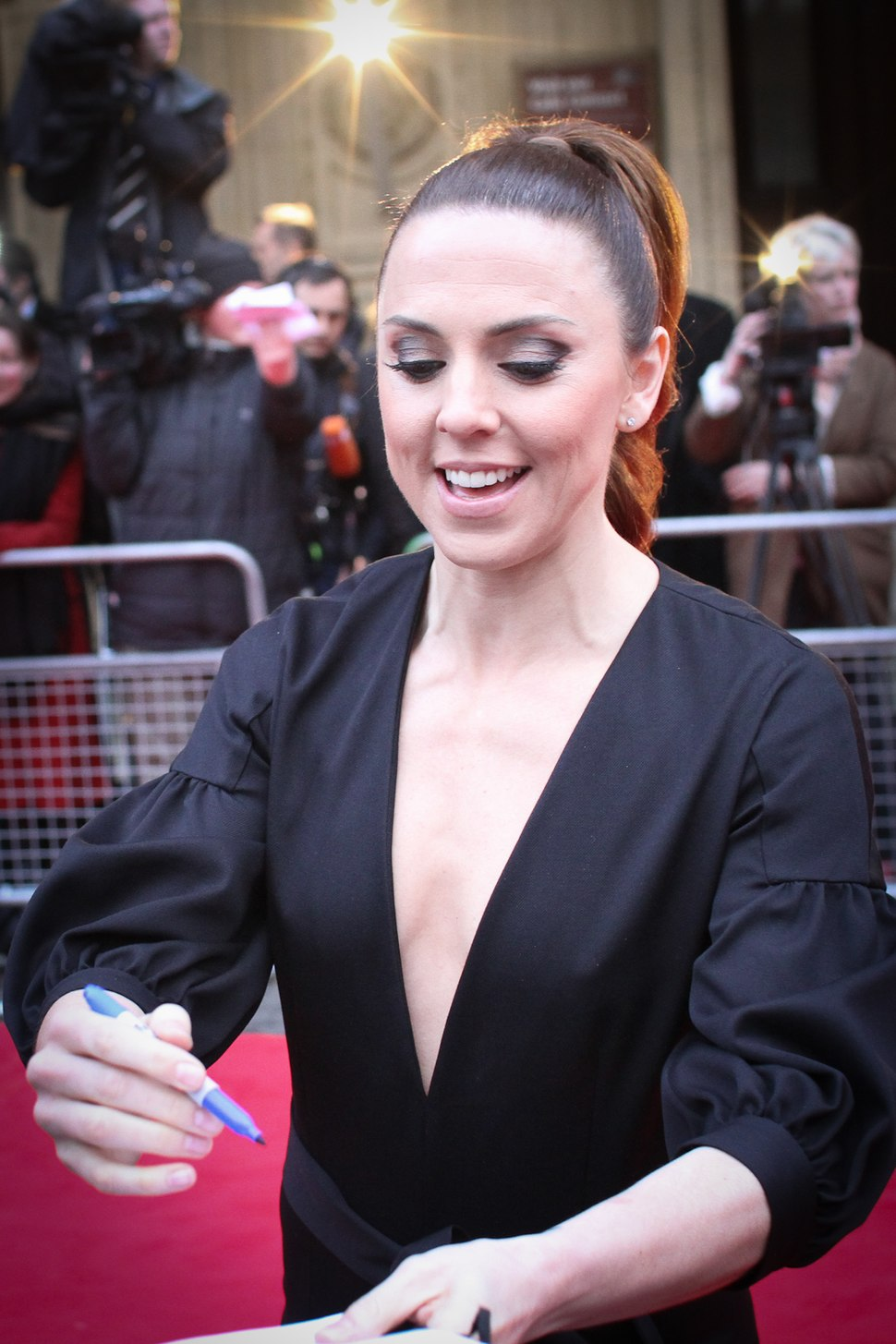 Mel C arriving at the Royal Albert Hall