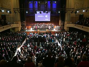 Melbourne Polytechnic - Graduands and Academic staff of Melbourne Polytechnic at the 2015 Graduation Ceremony at Melbourne Town Hall