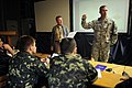 Members of multinational militaries, including a U.S. Army sergeant first class, right, participate in exercise Combined Endeavor (CE) at Mihail Kogălniceanu International Airport 100901-F-XH331-016.jpg