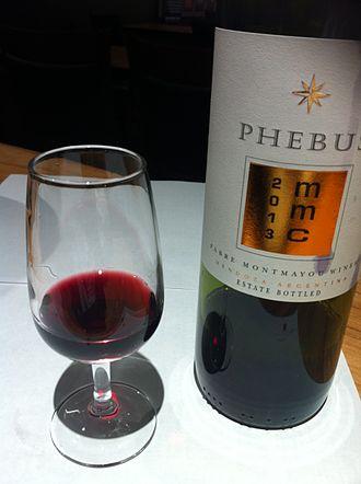 Mendoza wine - A Malbec, Merlot and Cabernet Sauvignon blend from Mendoza.