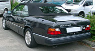 Mercedes W124 Cabrio rear 20070609.jpg