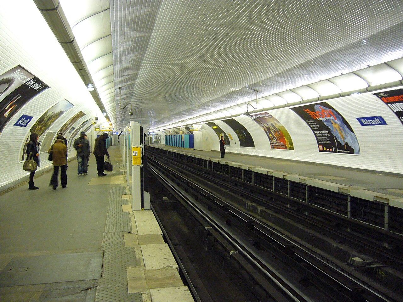 file metro paris ligne 1 berault installation facades de quai 31 jpg wikimedia commons. Black Bedroom Furniture Sets. Home Design Ideas