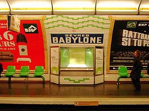 Sèvres – Babylone (Paris Métro) - Image: Metro de Paris Ligne 10 Sevres Babylone 04