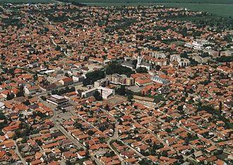 Mezőkövesd - Image: Mezőkövesd légifotó1
