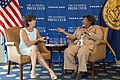 Mia Mottley and Alison Kodjak at the National Press Club 2.jpg