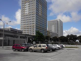 Historic Overtown/Lyric Theatre station - The headquarters of Miami-Dade Transit adjacent to the station