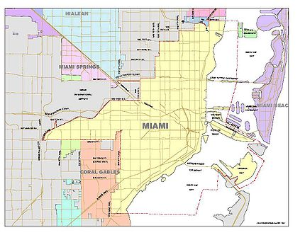 City Of Miami Map List of neighborhoods in Miami   Wikipedia