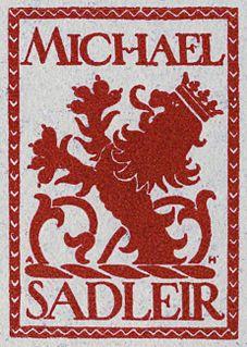 Michael Sadleir British writer
