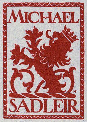 Michael Sadleir - Bookplate of Michael Sadleir