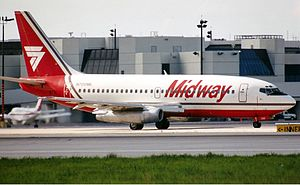 Midway Airlines (1976–1991) - Midway Airlines Boeing 737-200